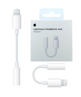 Adaptador lightning a jack 3.5mm box original iphone