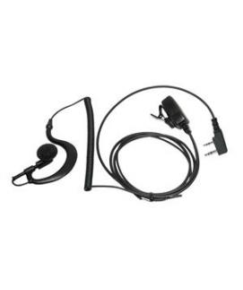 Sari-1302 Micro-auricular con PTT de solapa para Kenwood, Team y HYT.