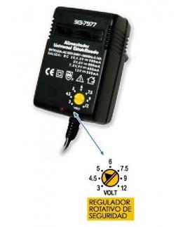 ALIMENTADOR ELECTRONICO ESTABILIZADO DE 3V A 12V MAXIMO 900mA