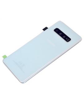 Samsung S10 (G973) - Tapa trasera + cámara cover blanco